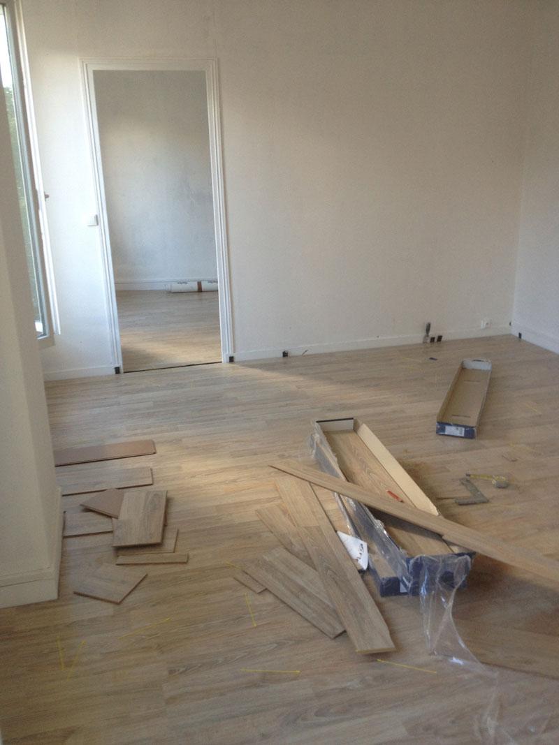 Maison Alfort pose de parquet stratifie cloisonnement